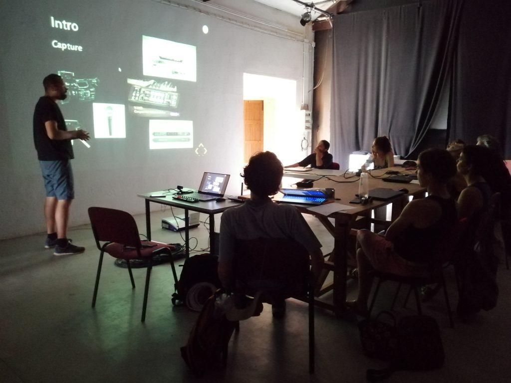 Transcurso del taller, diapositivas